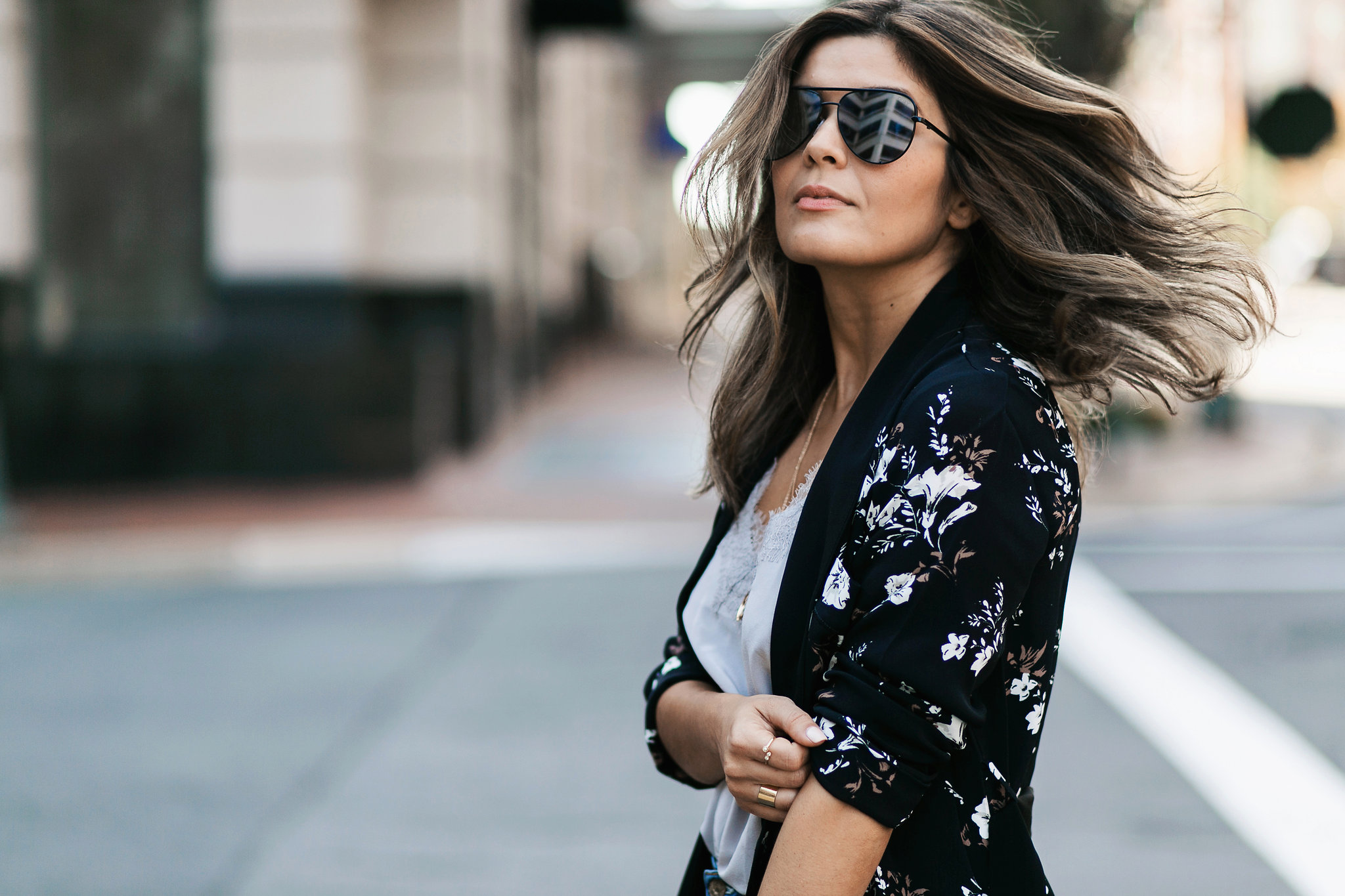 Style MBA Wears L'Academie x Revolve Floral Robe and Cami NYC