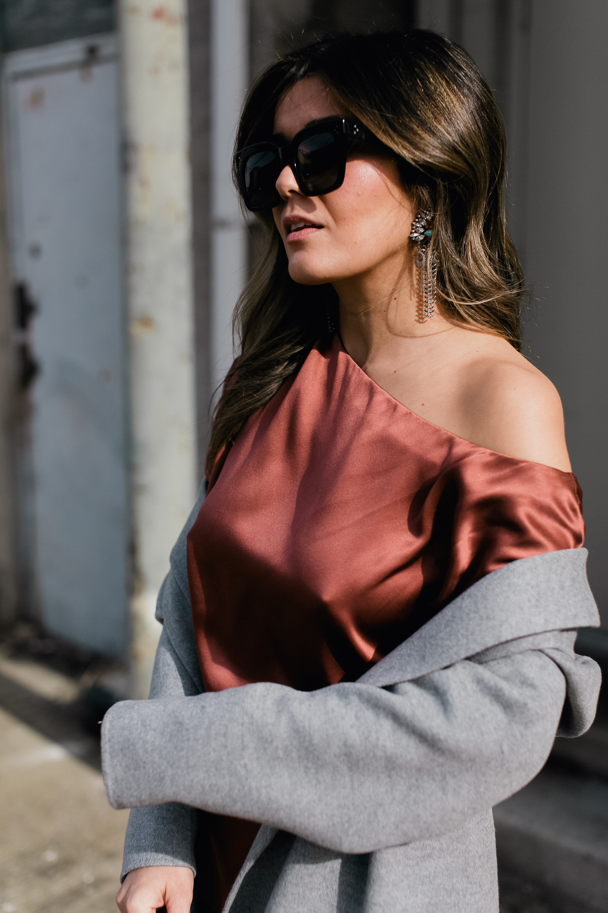 Style MBA Wears Tibi Assymmetrical Top from Net-A-Porter