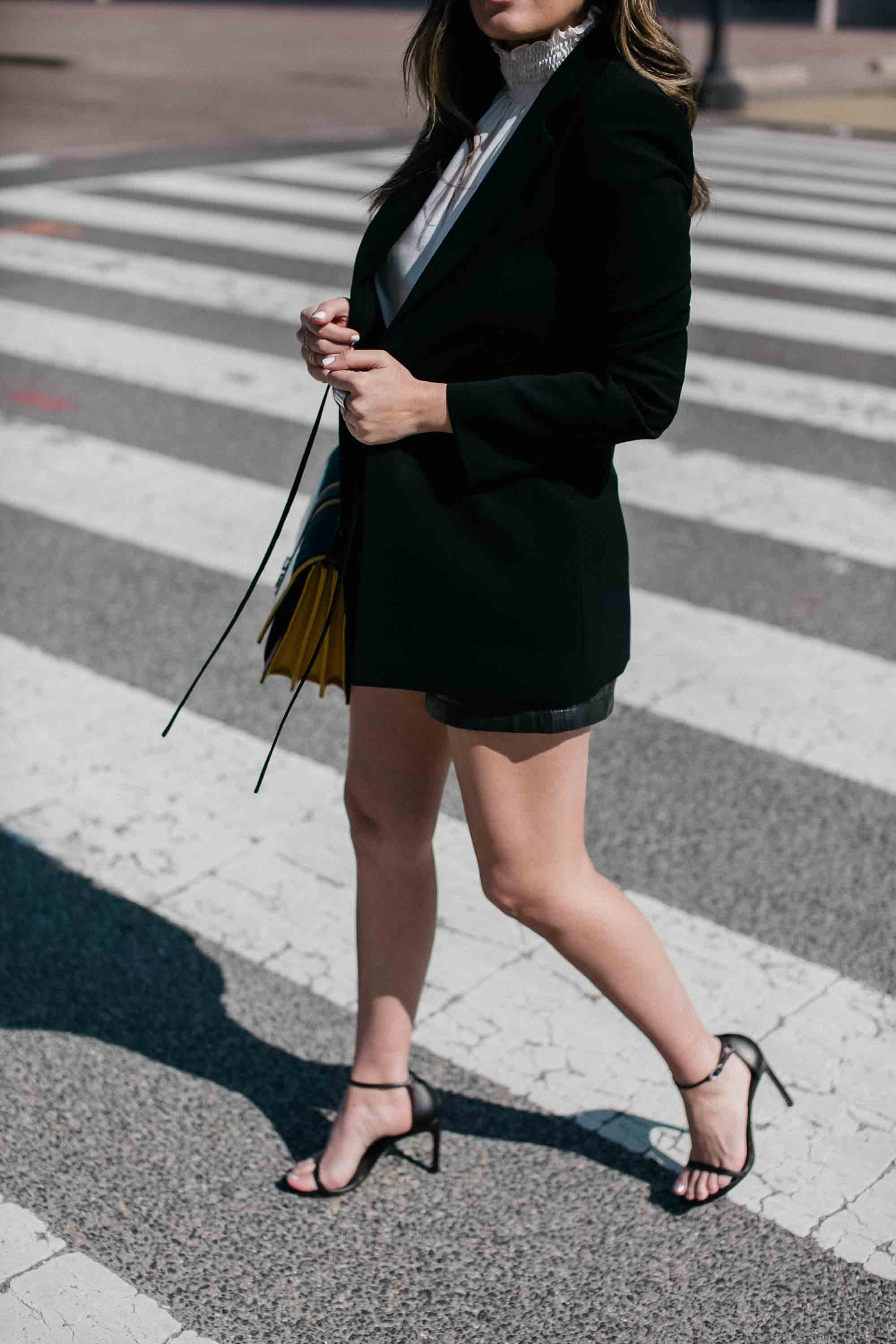 Style-MBA-Wears-Black-Blazer-and-Nude-heels