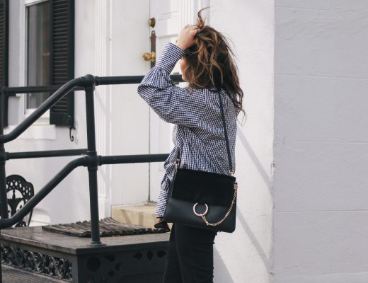 Style MBA wearing Nordstrom accessories Chloe Faye Bag