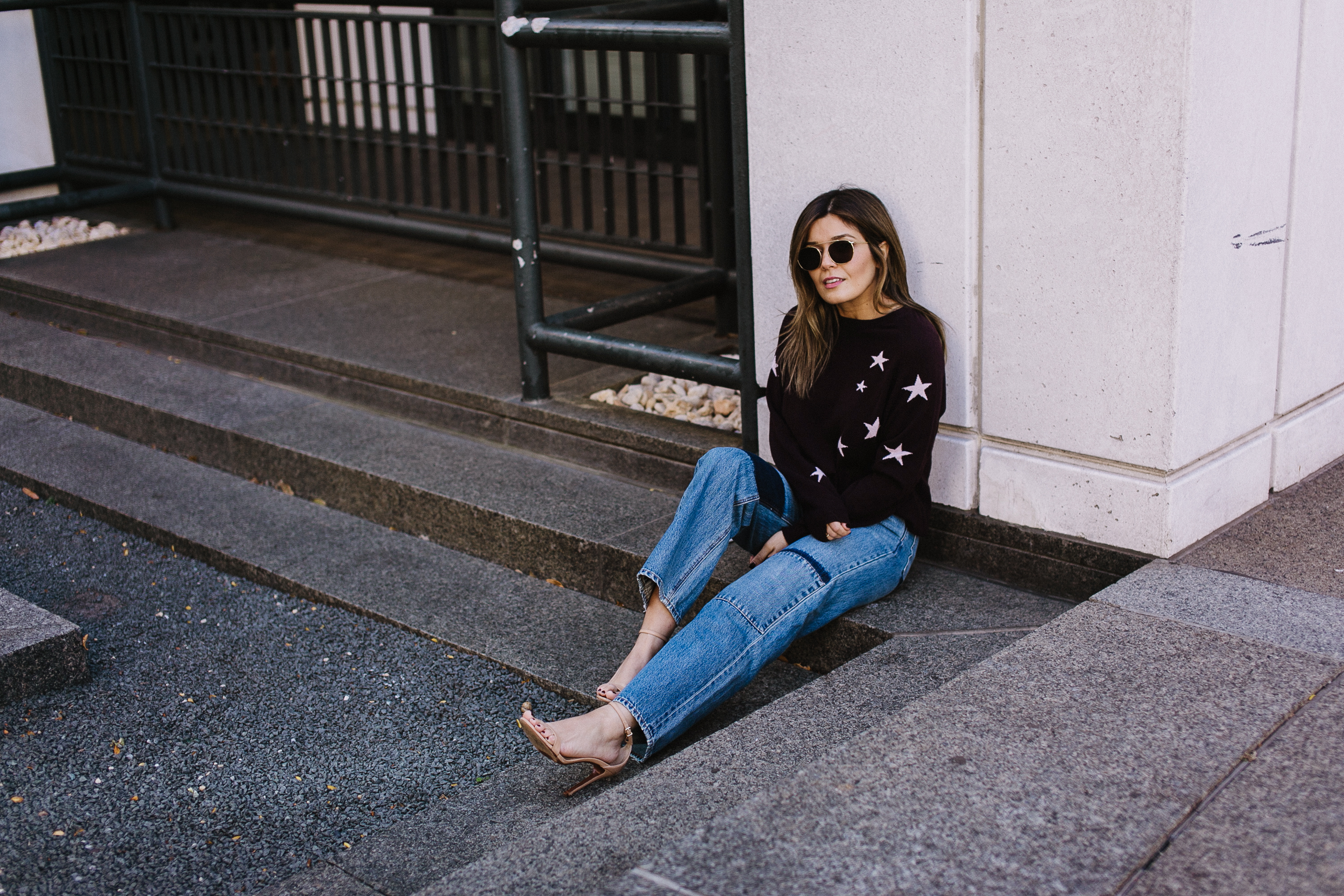 Style MBA Wears Chinti & Parker Star Sweater and Rebecca Taylor Patchwork Denim