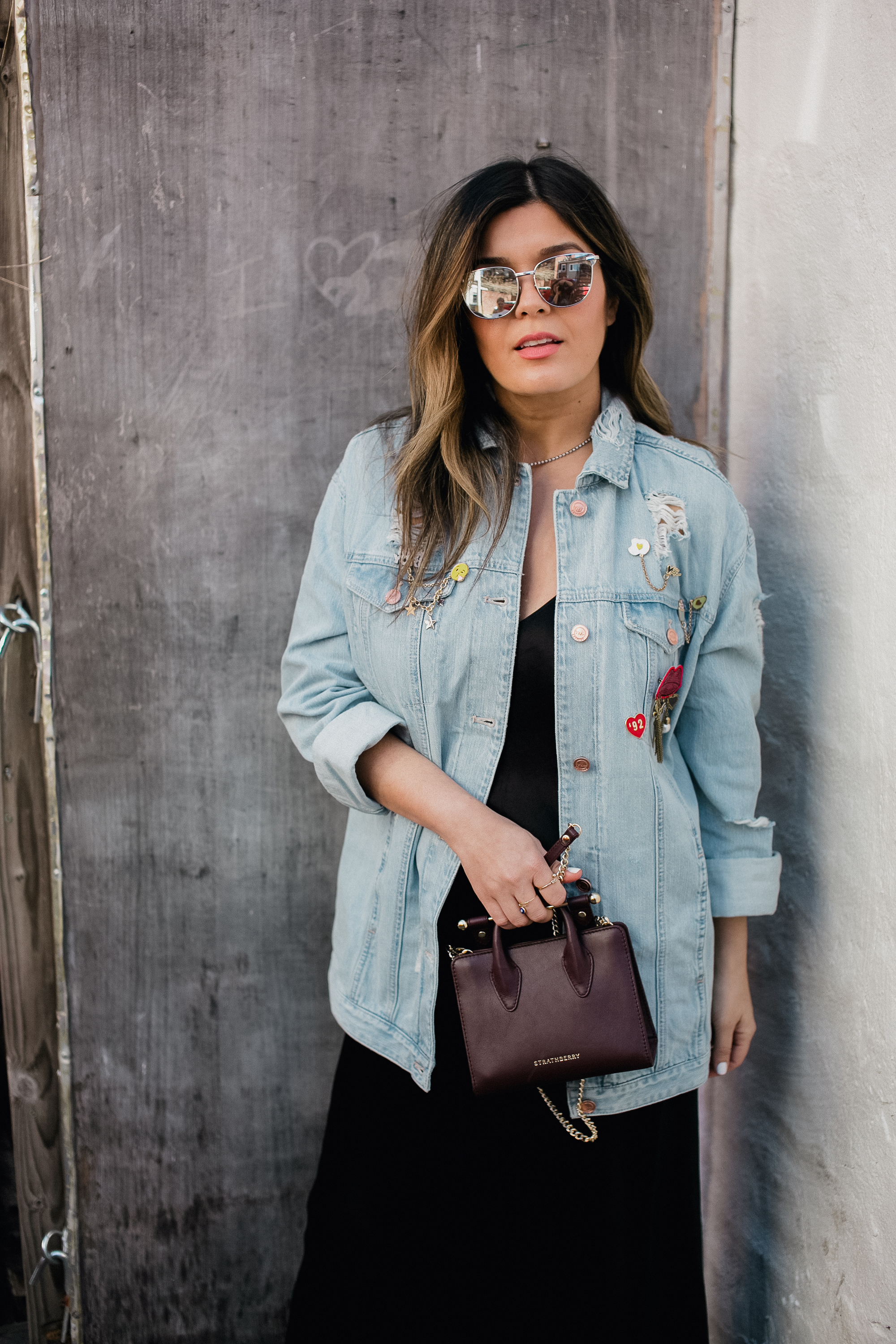 Style MBA Wears Karlie Kloss collection denim jacket