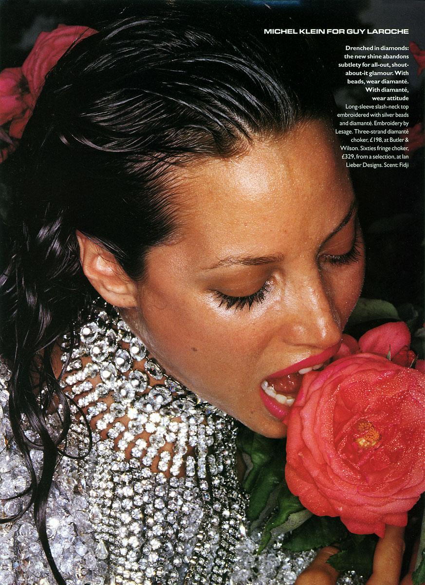 Michel Klein for Guy Laroche, Fall 1994, model christy turlington