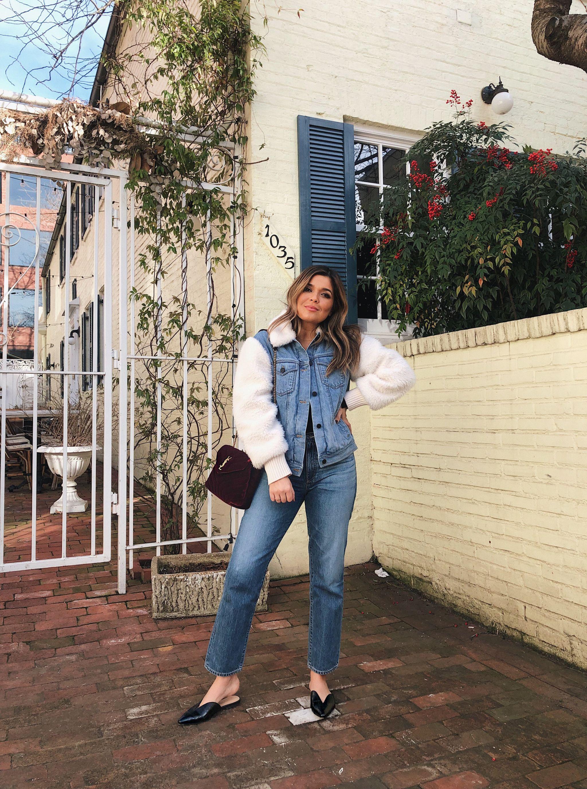 Style MBA Wears Rebecca Taylor Denim Coat